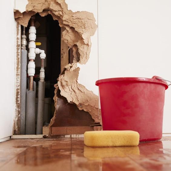 water damage from plumbing
