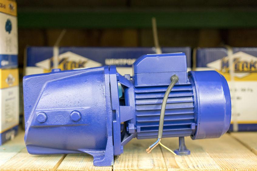 A Blue Electric Ejector Pump.