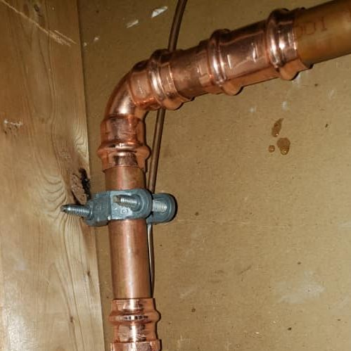 A Copper Gas Line.