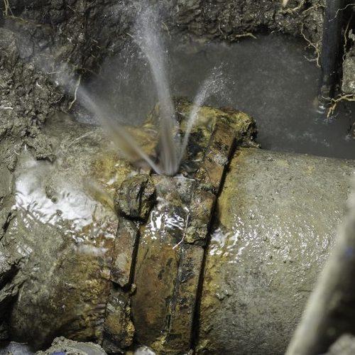 A Plumbing Pipe Leaking.