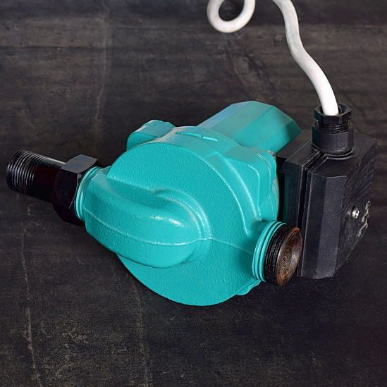 A Teal Booster Pump to Increase Pressure.